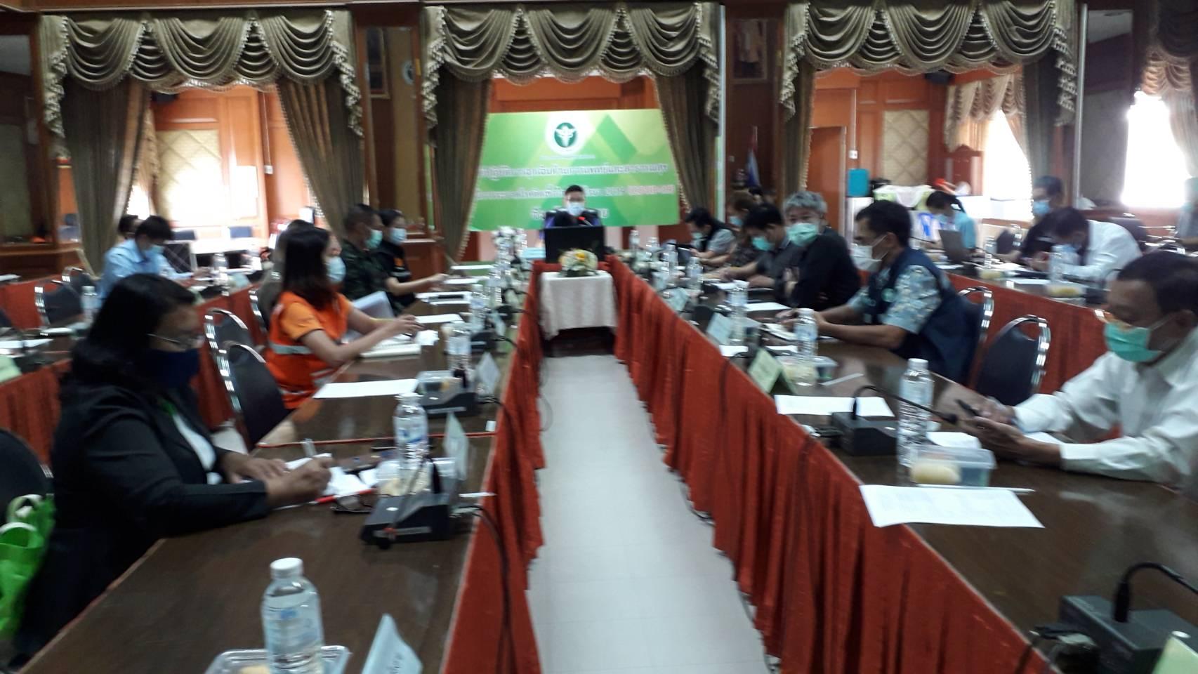 สจร.ชร. เข้าร่วมประชุมคณะทำงานด้านการติดตามประเมิน สถานการณ์  การแพร่ระบาดของโรคติดเชื้อไวรัสโคโรนา2019( COVID-19 ) ครั้งที่ 2/2564  21 ต.ค. 64